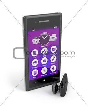 Smartphone and wireless handsfree