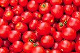 fresh red tomatoes on market