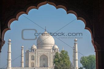 Taj and archway