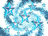 Decorative abstract with a stars