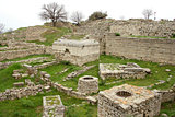 Ruins of ancient troy city