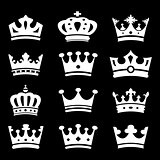 Crown collection - vector silhouette