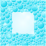 Cyan Water Bubble Frame