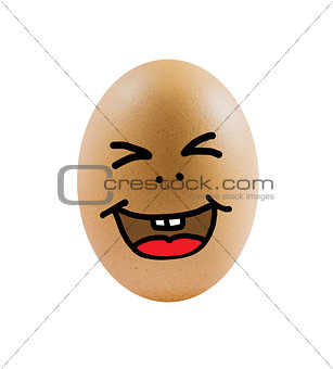 one eggs with funny face