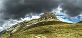Storm clouds over the Mount Castellazzo