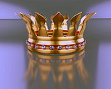 Gold crown with diamond