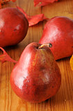 Organic red pears