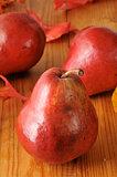 Organic red pears