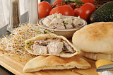 chicken salad pita sandwiches