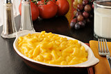 Macaroni and cheese with milk