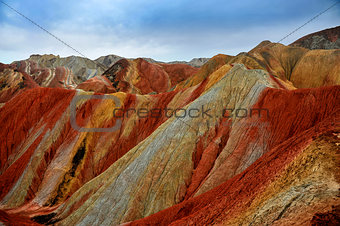 Danxia mountain of Zhangye