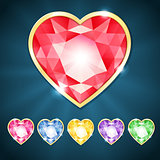 Beautiful diamond hearts