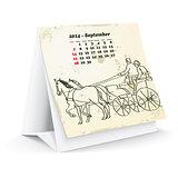 September 2014 desk horse calendar