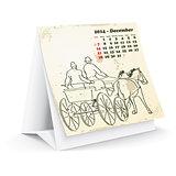 December 2014 desk horse calendar
