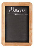 Aged black menu blackboard