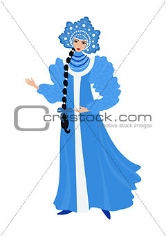 Beautiful Snow Maiden