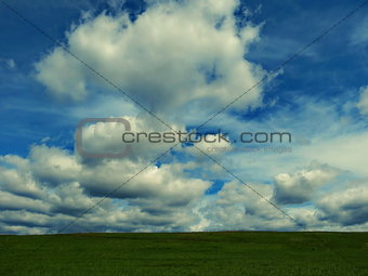 Sky and steppe