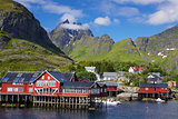 Picturesque village on Lofoten