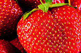 juicy ripe strawberry closeup