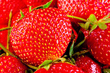 ripe strawberry macro background