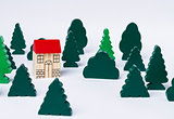 toy house in forest