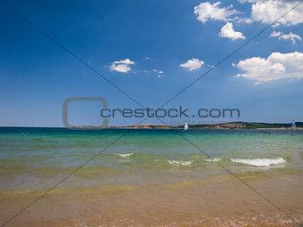 "Bulgarian seaside landscapes – beautiful beach near Sozopol – camping site ""Gradina"""