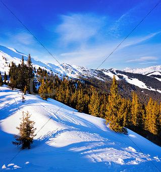 Ski slope near Zell am See, Austrian Alps