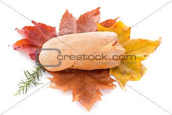 foie gras on leaf