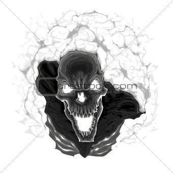 Black skeleton.