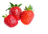 three ripe strawberry
