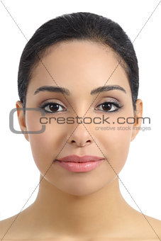 Front view of a smooth woman facial