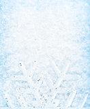Christmas snow background, snowflake border