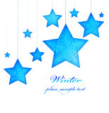 Blue stars Christmas tree ornaments