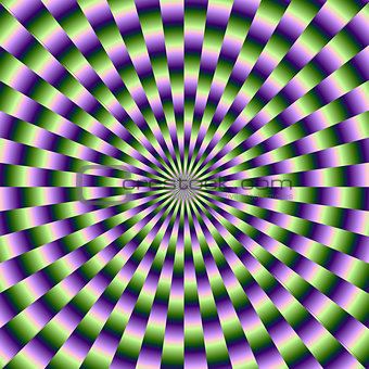 Circular Weave in Green and Purple