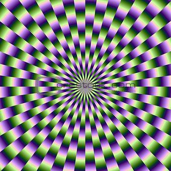 Circular Weave in Green and Purple