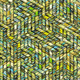 abstract striped cube green blue yellow backdrop