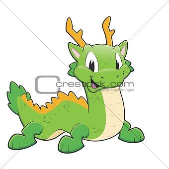 Green chinese dragon