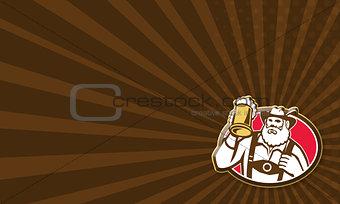 Bavarian Barman Bartender Retro