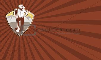 Gold Digger Miner Prospector Shield
