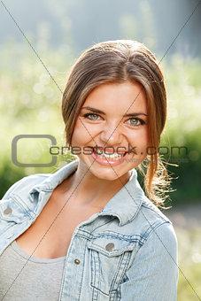 beautiful teenage girl smiling