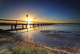 Sun Setting at Long Jetty, Australia
