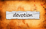 Devotion title on piece of paper