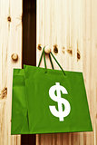 Shopping bag with dollar symbol