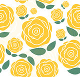 Floral Seamless Pattern Background for Wedding and Birthday. Vec
