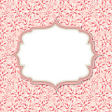 Cute Pink Frame  Vector Illustration