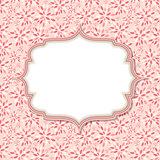 Cute Pink Frame  Vector Illustration