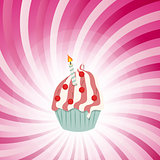 Cupcake invitation card vector illustration
