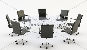 Chairs and office table