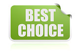 Best choice green sticker