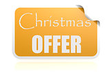Christmas offer yellow sticker